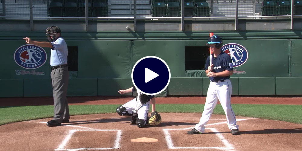 umpire signaling from home plate