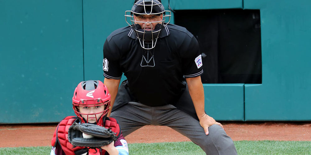 umpire behind home plate