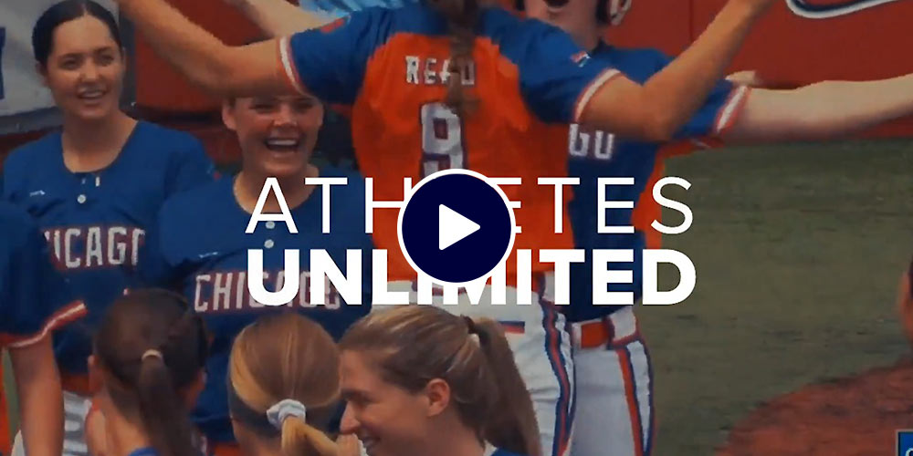 athletes unlimited video graphic